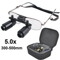 5.0x 5X 300-500mm Dental Loupes Surgical Medical Binocular Dentist Magnifier CE