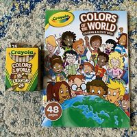 Crayola Colors Of The World Coloring And Activity Book With Crayons - Brand New