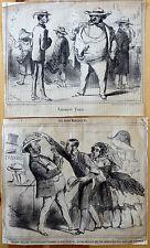 Le CHARIVARI Caricatures Humour Ch. VERNIER Chapeau Panama
