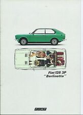 FIAT 128 3p BERLINETTA lingua danese BROCHURE PROSPEKT CATALOGO ECCELLENTE