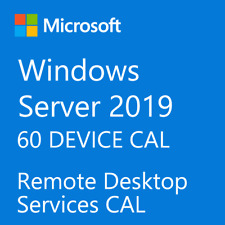 Microsoft Windows Server 2019 RDS 60 DEVICE CAL Remote Desktop Services License