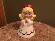 "Vintage enesco Angel bell blonde girl Christmas 1980's holiday 5"" tall xmas"