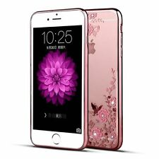 Diamond Flowers Clear Soft TPU Silicone Rubber Case Cover For Samsung &Huawei&LG
