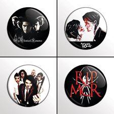"4-Piece MY CHEMICAL ROMANCE (MCR Set 2) 1"" Pinback Band Buttons / Pins / Badges"