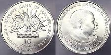 10 KWACHA 1975 AQUILA EAGLE MALAWI ARGENTO SILVER #1554