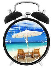 """Playa Sillas Alarma Reloj de Escritorio 3.75"""" Casa u Oficina Decoración E34 Nice"""