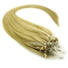 25 Micro Loop Ring Beads I Tip Indian Remy Human Hair Extension Light Blonde #20