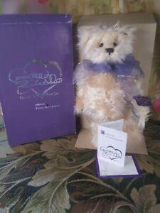 "15"" Annette Funicello Collectible Bear ""Peachberry Fluff"" With COA Original Box"