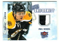 2008-09 Fleer Ultra UNIFORMITY GAME USED 2-color RELIC #UA-PK PHIL KESSEL