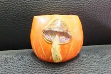 Louise Taylor Orange Mushroom Vase Signed L Taylor