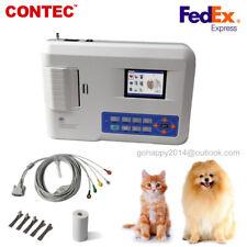 Veterinary Animal Pet Vet 3 Channel 12 Leads Portable Ecg Ekg Machine Ecg300gvet