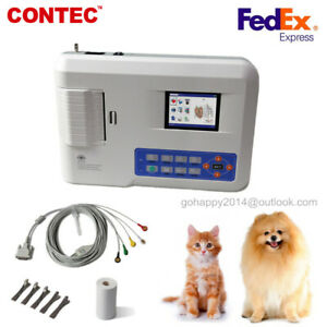 veterinary animal Pet Vet 3 Channel 12 Leads Portable ECG EKG Machine ECG300GVET