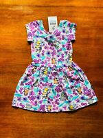Bonds Baby Bluey Playground Purple White Green Summer Dress Size 2 BNWT