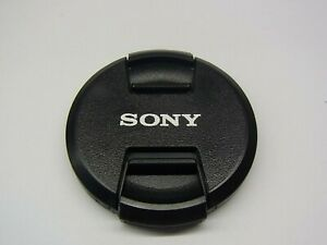 55mm Front Lens Cap Center Pinch Snap on for Sony Camera Plastic OEM