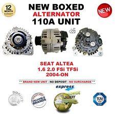 pour SEAT ALTEA 1.6 2.0 FSI TFSI à partir de 2004 NEUF 110 A Alternateur Boite