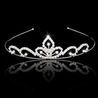 Wedding Party Bridal Tiara Children Crown Headband Clear Rhinestone K1K7