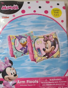"5.8"" inch Inflatable Arm Floats (Minnie Mouse), Brand New & Sealed for ages 3+"