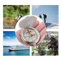Pocket Watch Flip Compass Dark Portable Navigation Car Compass Keychain