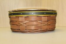 Longaberger Kickoff Basket Black and Yellow Band w/ Lid, Protector & Tags