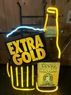 Rare Coors Extra Gold Beer Bottle Neon Sign Light 1994