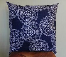 Decorative Pillow Cover Floral Navy Blue White Floral Toss Pillow Throw
