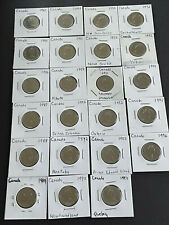 1984-1996 CANADA 25 Cents.  Provinces.  Lot of 23 Coins.  Great condition.