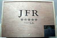 Wood Cigar Box J F R Maduro 770 Extra Large 11.5x 8 x3.5 Craft Storage Slide Top
