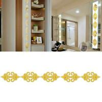 10PCS Self-Adhesive 3D Mirror Wall Sticker Decals Porch Decor Art Mirror P8C7