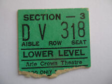 ROLLING STONES__1966__CONCERT TICKET STUB__Aftermath Tour__Chicago__VG