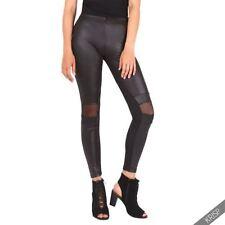 Wet-Look Damen-Leggings aus Polyamid ohne Muster