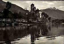 Rivapiana Ropiana Tessin Schweiz s/w Postkarte ~1940 Panorama See Berge Turm