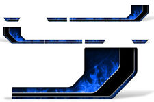 Rally Race Stripes Side Graphic Kit Truck Decal Fits: Ford F150 15-17 BLUE FLM