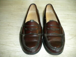 Mens Cole haan Burgandy Penny Loafers 9 D