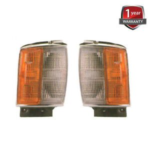 For Toyota Hilux LN60 RN60 RN65 4WD Front Corner Lamp Chrome Pair Body 1986-88