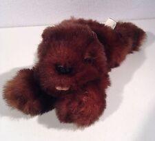"Baby Beaver Plush Pur-Fection by Mjc Small Dark Brown 9.5"" Boys & Girls 6+ 1988"