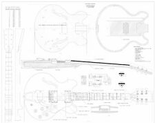 Gibson CS356 archtop Electric Guitar Plans - full scale detailed  FREE SHIPPING