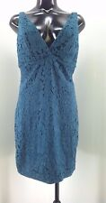 TopShop Teal Floral Embroidered Lace Sheath Dress 664, Size 10