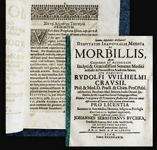 1687 Masern Morbilli Medizin Crause Buchka Disputatio inauguralis medica