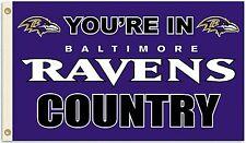 Baltimore Ravens Huge 3'x5' Nfl Licensed Country Flag / Banner - Free Shipping