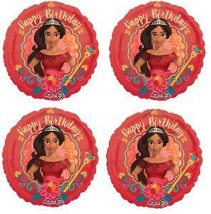 "4x 18"" Elena of Avalor Happy Birthday Foil Mylar Balloon Party Decoration!"