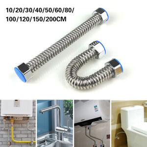 2M Flexible Shower Head Hose Extra Long Stainless Steel Hand Held Bathroom Pipe