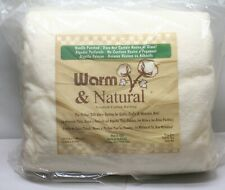 "Warm Company Warm & Natural Cotton Batting King Size 120""X 124"" 2251"
