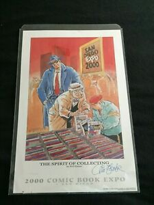 San Diego Comic Con 2000 Expo  - Will Eisner signed Print - # 174 / 300 Litho