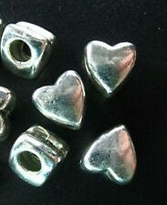 15pcs Tibetan Silver Chunky Heart Spacer Beads T1445