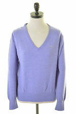 GANT Womens V-Neck Jumper Sweater Size 16 Large Purple Wool