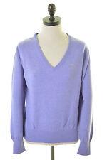 GANT Womens V-Neck Jumper Sweater Size 16 Large Purple Wool