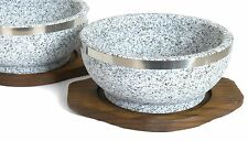 Set of 2 Dolsot Bibimbap Bowls, Granite Stone Bowls for Korean Recipes, 32-Oz