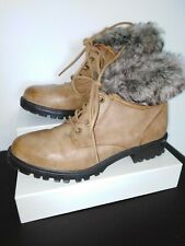 Atmosphere Fur Lined Ankle Boots Sz 6 Tan
