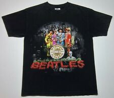 Vintage 1999 The Beatles Sgt. Peppers Lonely Hearts Band Medium M Black T Shirt