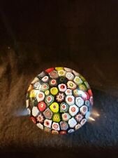 Large Old STRATHEARN Panel Design Paperweight